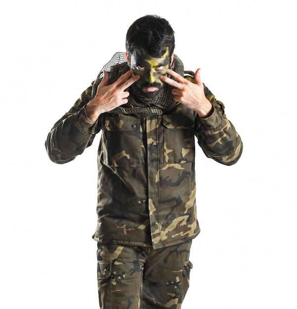 Солдат с краской Бесплатные Фотографии