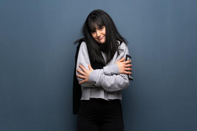 ヤングスポーツ女性の凍結 Premium写真