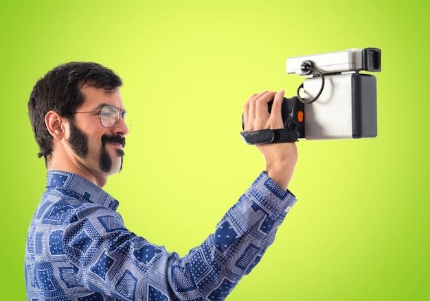 ヴィンテージの若い男の撮影 無料写真