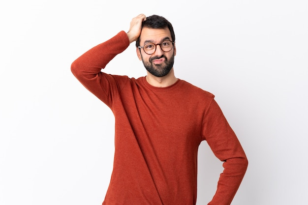 孤立した白の男 Premium写真