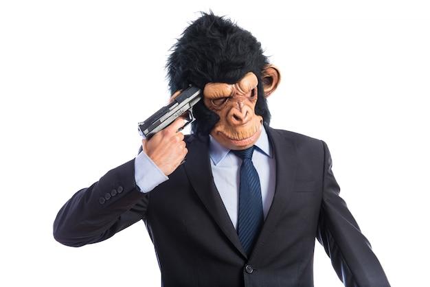 Человек обезьяны, делающий самоубийство Бесплатные Фотографии