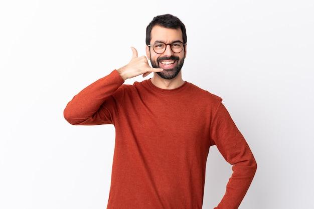 ひげを持つ若い男 Premium写真