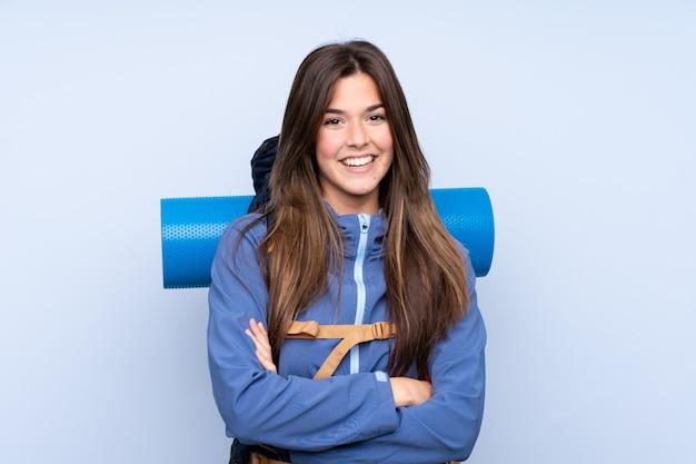 若いハイカーの女性 Premium写真