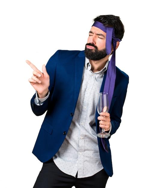Сумасшедший и пьяный бизнесмен Бесплатные Фотографии