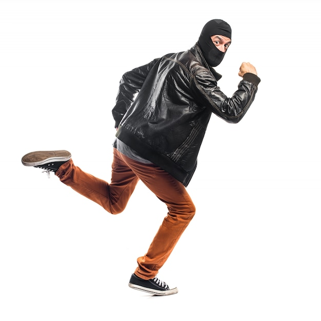 速く走っている強盗 無料写真