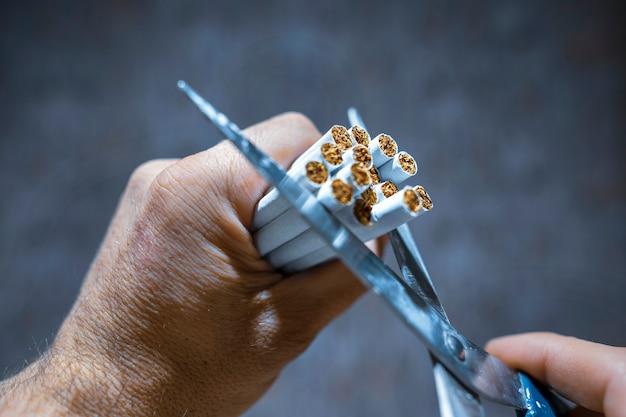 たばこを吸わない Premium写真
