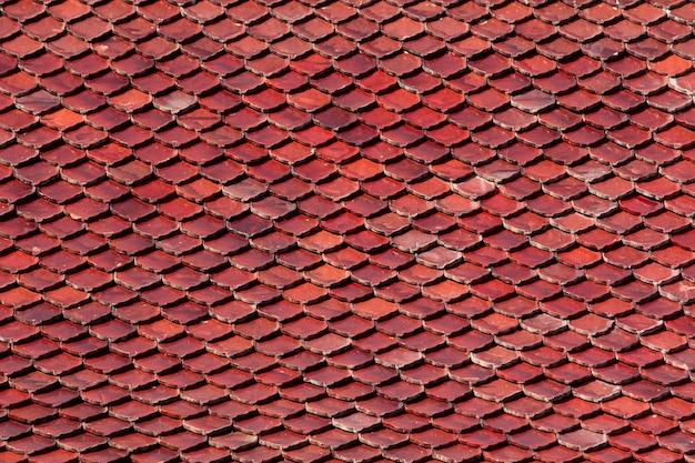 古いタイル屋根の背景 無料写真