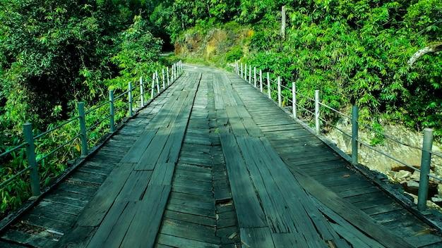 危険な木製の橋 Premium写真
