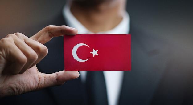 トルコの旗の実業家保有カード Premium写真