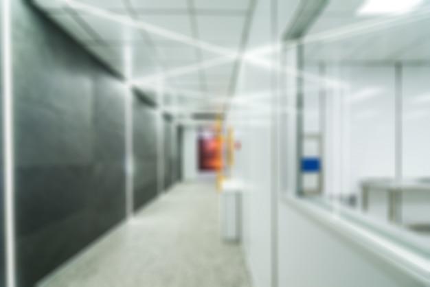 ナノテクノロジー工場のテーマブラーバックグラウンド 無料写真