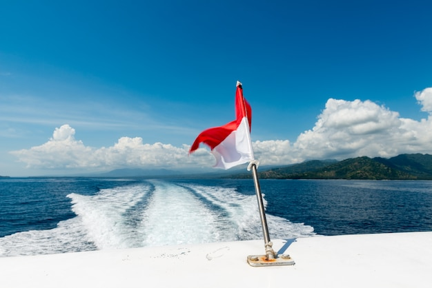 Пробуждение катера по океану Бесплатные Фотографии