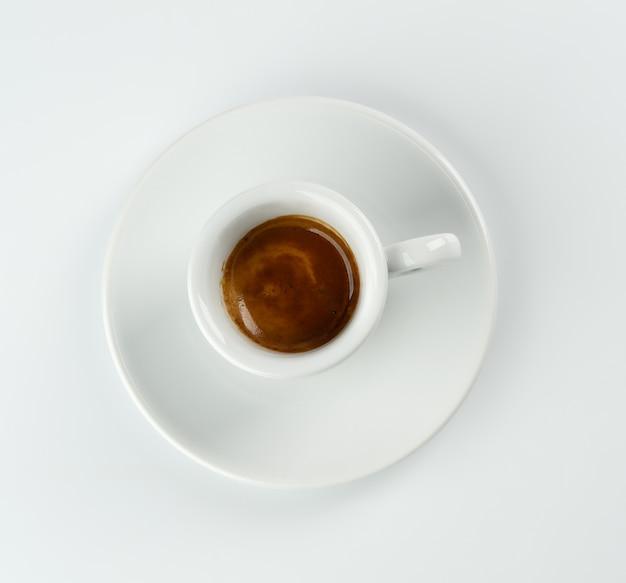 上からのエスプレッソのカップ 無料写真