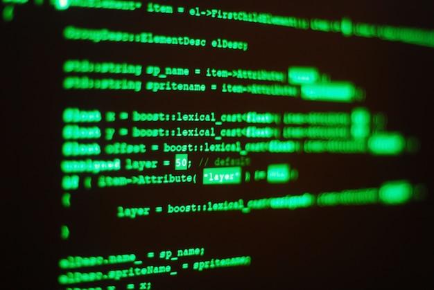 コンピュータプログラムコード 無料写真