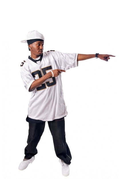 白いヒップホップの若い男 無料写真