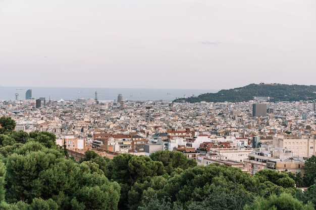スペイングエル公園からバルセロナの眺め Premium写真