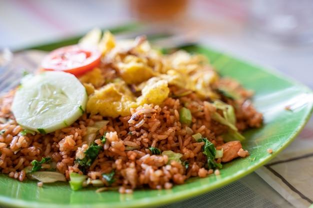 ご飯と野菜料理 Premium写真