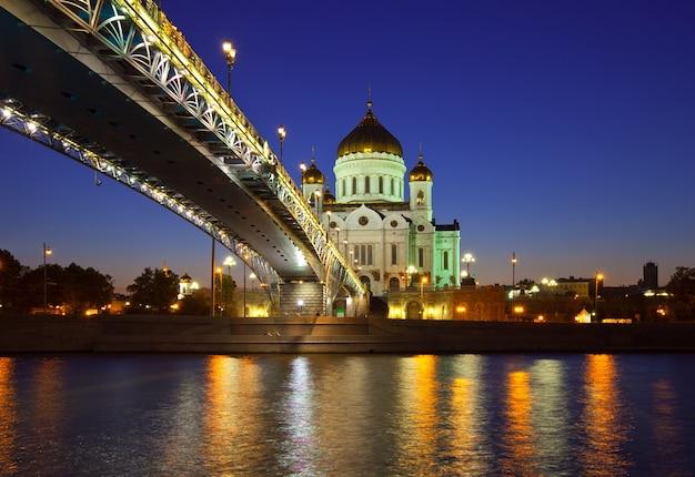 夜の救世主大聖堂キリスト 無料写真