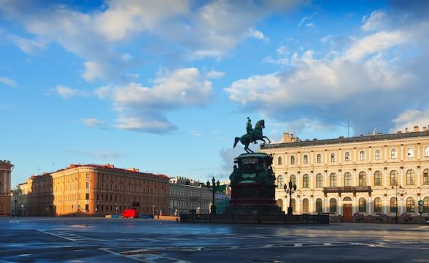 聖イサクの広場サンクトペテルブルク、ロシア 無料写真