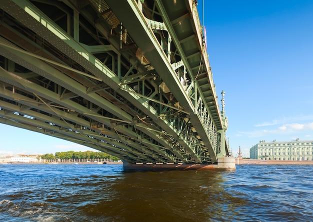 サンクトペテルブルクの眺め。トリニティブリッジ 無料写真