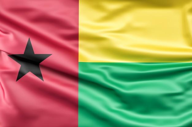 ギニア・ビサウの国旗 無料写真