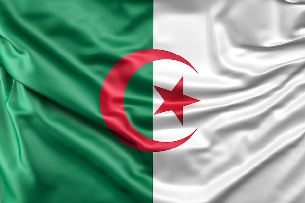 アルジェリアの国旗 無料写真
