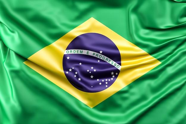 ブラジルの国旗 無料写真