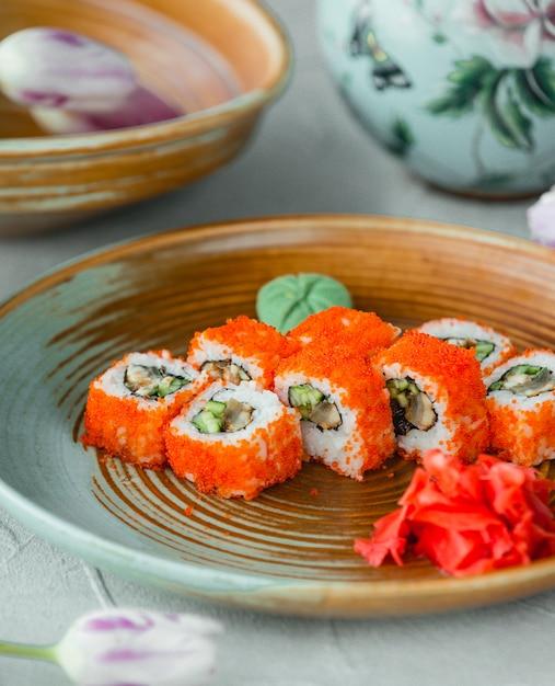 しょうがとわさびの寿司カリフォルニア 無料写真