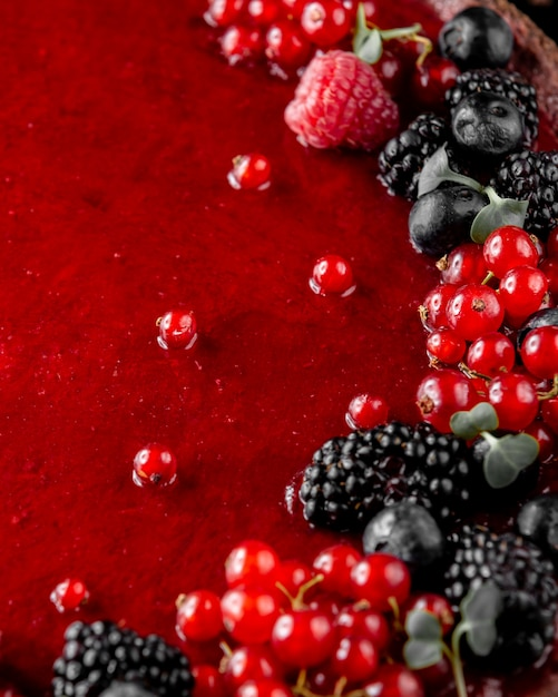 ワイルドベリーフルーツシロップ 無料写真