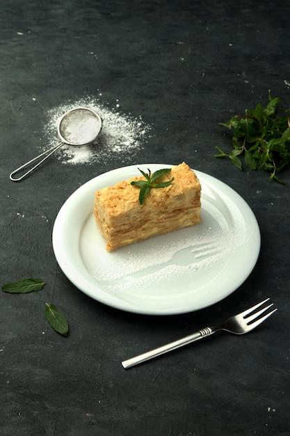 軽いカスタードとナポレオンケーキ 無料写真