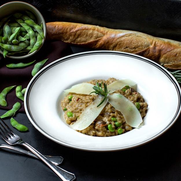 Салат с зеленой фасолью и пармезаном Бесплатные Фотографии