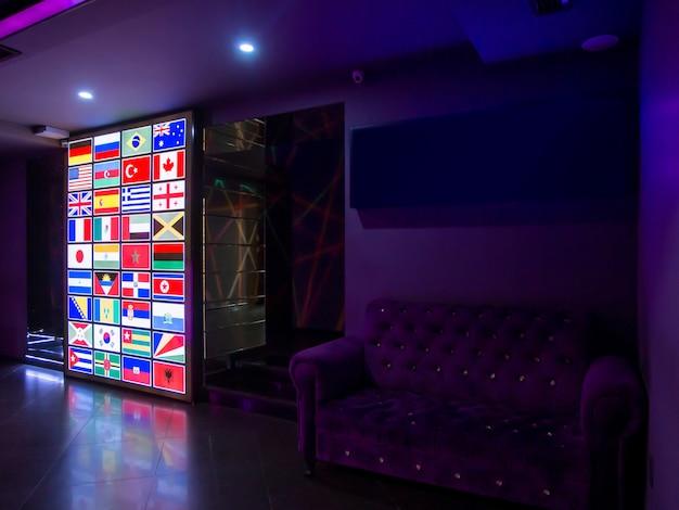 Светодиодный экран с флагами стран мира Бесплатные Фотографии