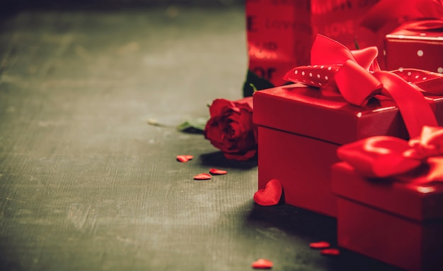 バレンタインデーのギフトボックス Premium写真
