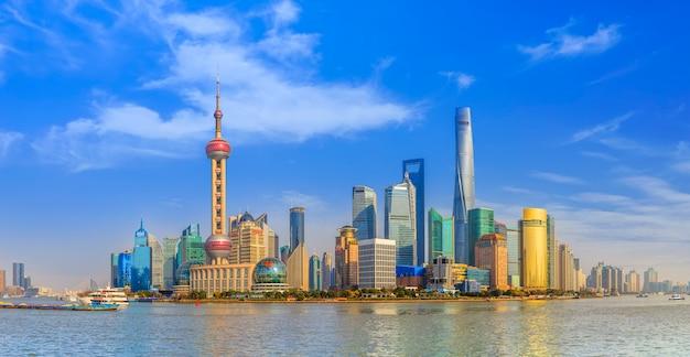 Китайская башня финансирует достопримечательность небоскреба красивая Бесплатные Фотографии
