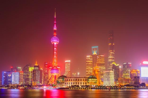 Городской пейзаж шанхайский модный вечер Бесплатные Фотографии