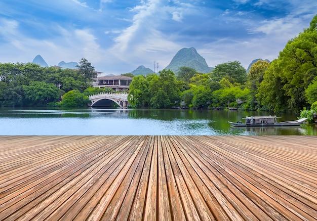 古典的な庭園美しい湖の木中国 無料写真