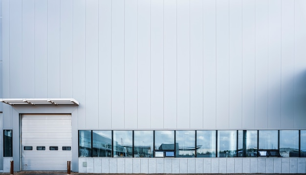 近代的な工場の建物と物流倉庫 Premium写真