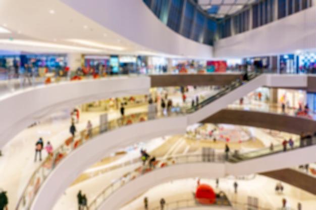 背景のデパートインテリアの抽象的なぼかしショッピングモール Premium写真
