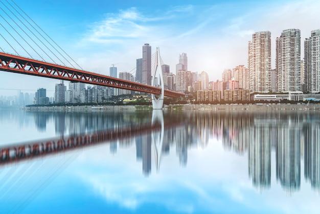 重慶の都市スカイライン Premium写真