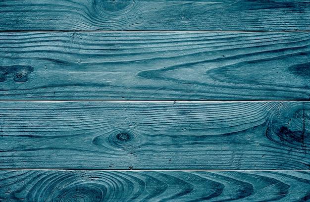 Старый текстуру дерева. синие деревянные доски. Premium Фотографии