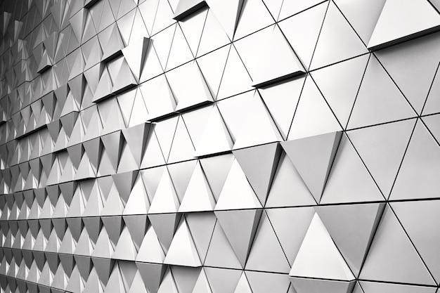 Геометрический серебряный фон Premium Фотографии