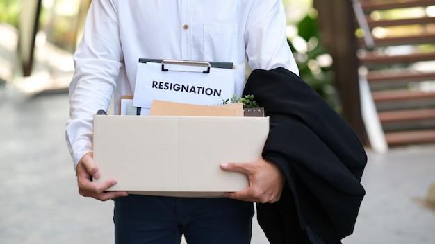 仕事の変更、失業、辞任。 Premium写真