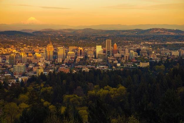 ポートランドオレゴンサンセットビスタ 無料写真