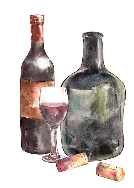 ワインボトルと組成 Premium写真