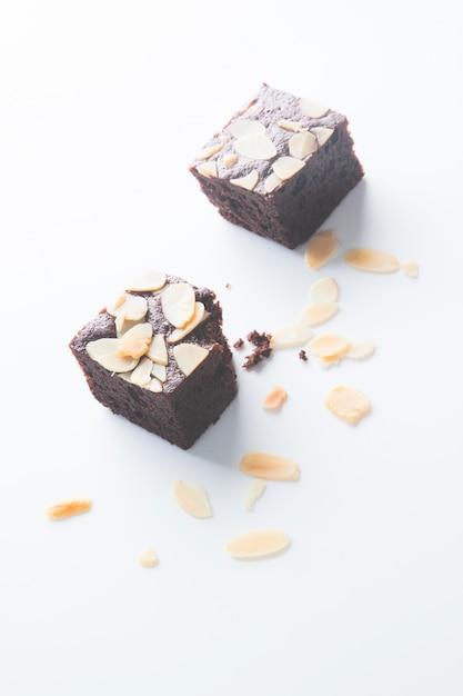 チョコレートブラウニー、噛まれた 無料写真