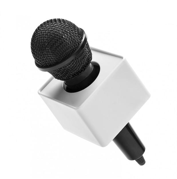 Черный беспроводной микрофон Premium Фотографии