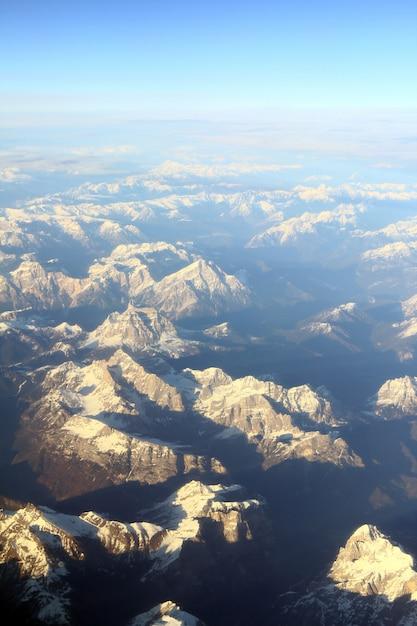 登山家の空撮 無料写真