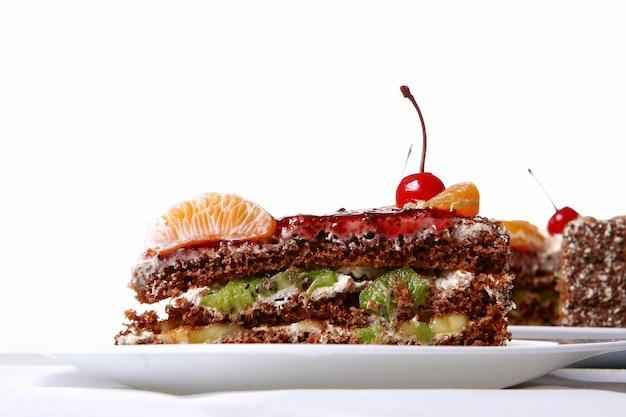 Фруктовый торт с вишней пустыни Бесплатные Фотографии
