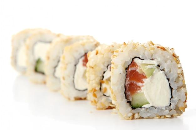 新鮮でおいしい寿司ロール 無料写真