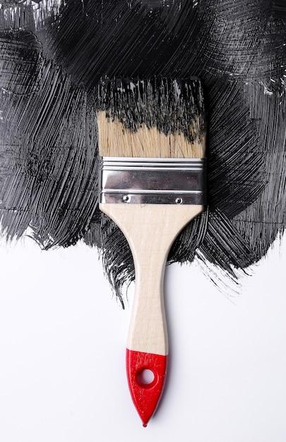 白地に黒の塗料 無料写真