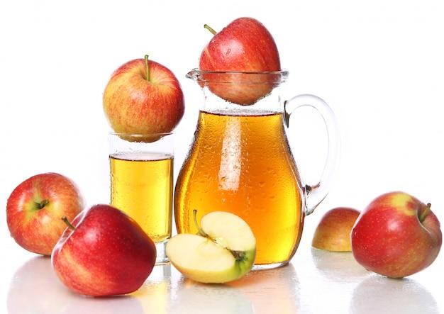 新鮮で冷たいリンゴジュース 無料写真